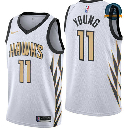 cfb3 camisetas Trae Young, Atlanta Hawks 2018/19 - City Edition