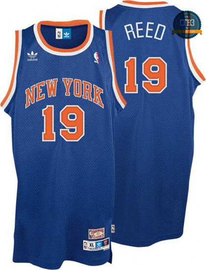 cfb3 camisetas Willis Reed, New York Knicks [Azul]
