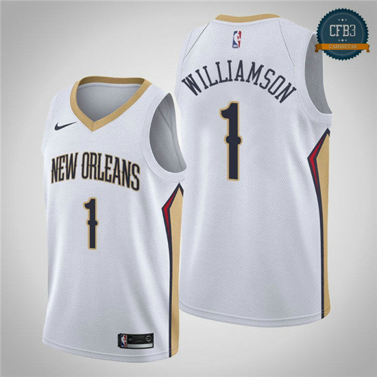 cfb3 camisetas Zion Williamson, New Orleans Pelicans 2018/19 - Association