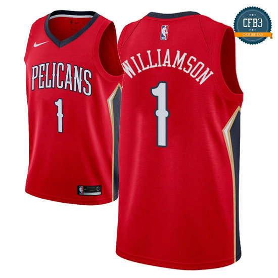 cfb3 camisetas Zion Williamson, New Orleans Pelicans 2018/19 - Statement
