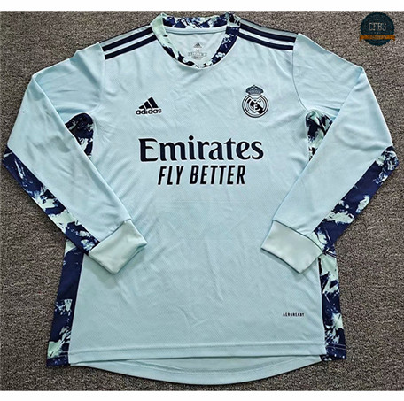 Cfb3 Camiseta Real Madrid Portero Manga Larga Azul 2020/2021