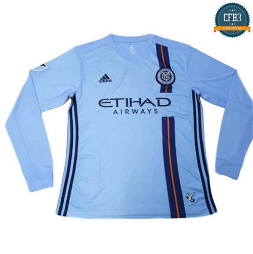 Cfb3 Camisetas New York City 1ª Equipación Manga Larga Azul 2019/2020