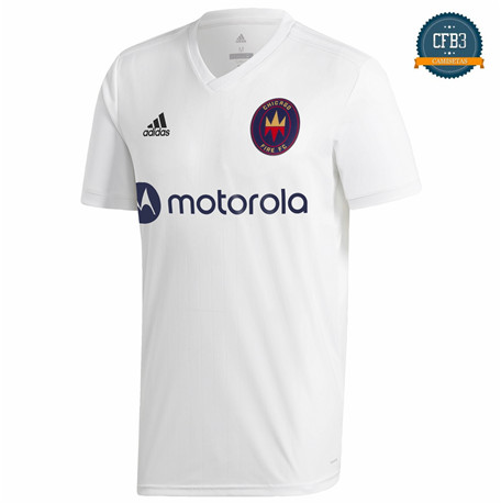 Cfb3 Camiseta Chicago Fire 2ª Equipación Blanco 2020/2021