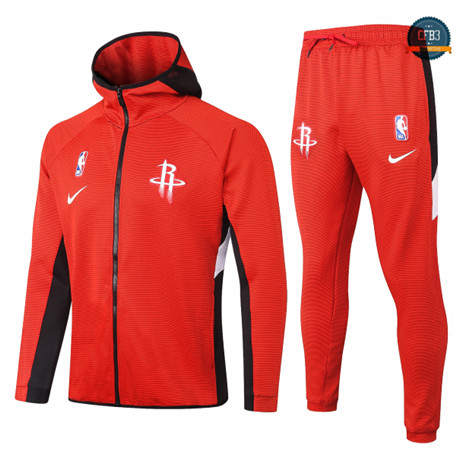 Cfb3 Camisetas Chándal Houston Rockets - Rojo