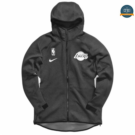 Cfb3 Camisetas Chaqueta con capucha Los Angeles Lakers - Negro