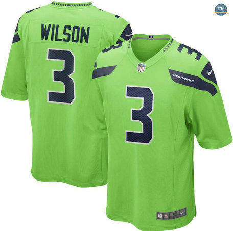 Cfb3 Camiseta Russell Wilson, Seattle Seahawks - Green