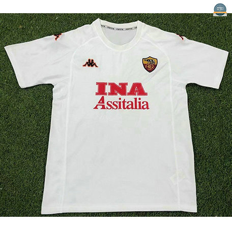 Cfb3 Camisetas Retro 2000-01 AS Roma 2ª Equipación