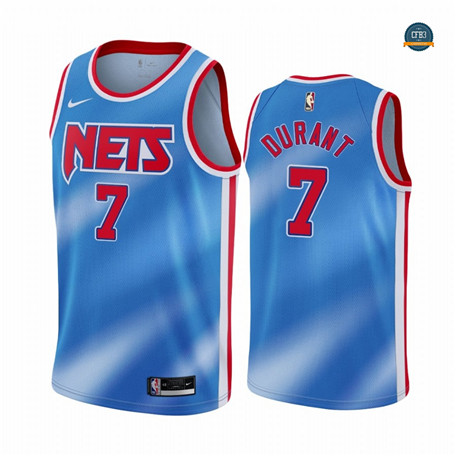Cfb7 Camiseta Kevin Durant, Brooklyn Nets 2020/2021/21 - Classic