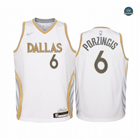 Cfb14 Camisetas Kristaps Porzingis, Mavericks Dallas 2020/2021/21 - City Edition