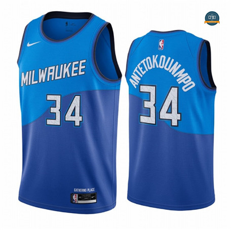 Cfb17 Camisetas Giannis Antetokounmpo, Milwaukee Bucks 2020/2021/21 - City Edition