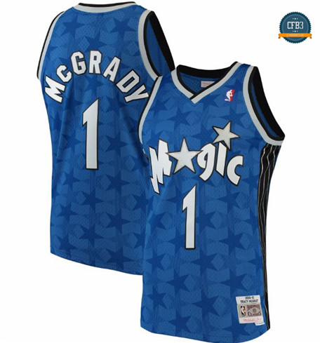 Cfb3 Camisetas Tracy McGrady, Orlando Magic, Mitchell&Ness - Azul