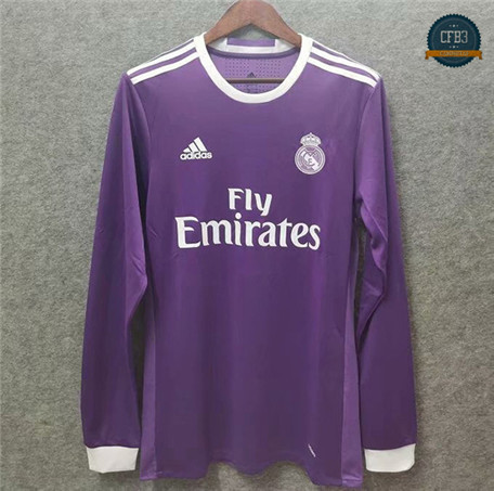 Cfb3 Camiseta Retro 2016-17 Real Madrid 2ª Equipación Manga larga