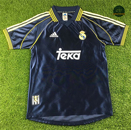 Cfb3 Camiseta Retro 1998-00 Real Madrid 2ª Equipación