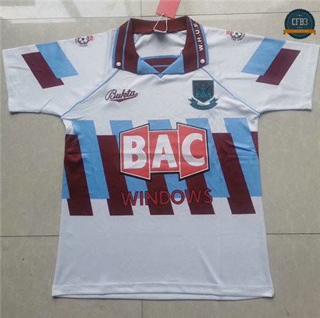 Cfb3 Camiseta Retro 1996-97 West Ham United 3ª Equipación