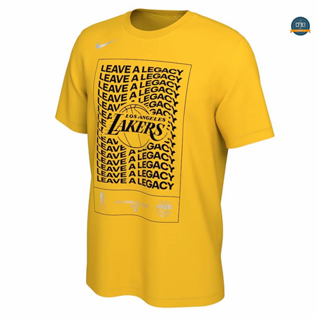 Cfb3 Camiseta Camiseta Los Angeles Lakers - Gold