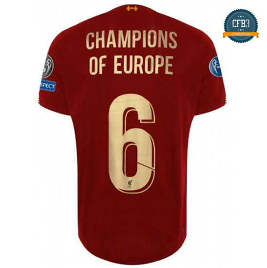 Camiseta Liverpool 1ª Equipación Champions of Europe 6 2019/2020
