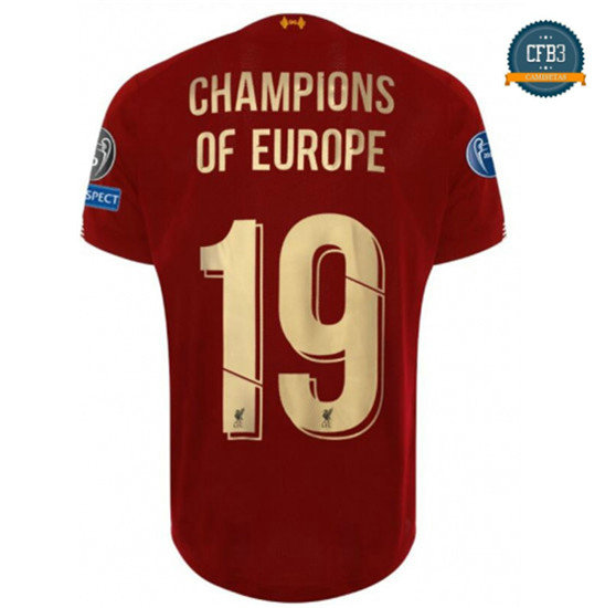 Camiseta Liverpool 1ª Equipación Champions of Europe 19 2019/2020