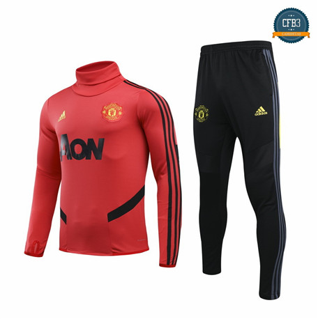 Cfb3 Camisetas B030 - Chandal Manchester United Rojo/Negro 2019/2020