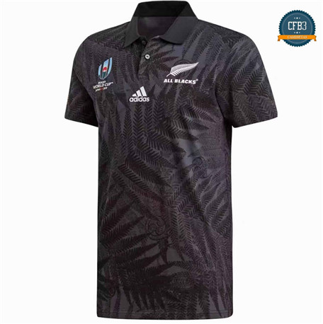 Cfb3 Camiseta Rugby Nueva Zelanda All Blacks POLO Copa Mundial 2019/2020