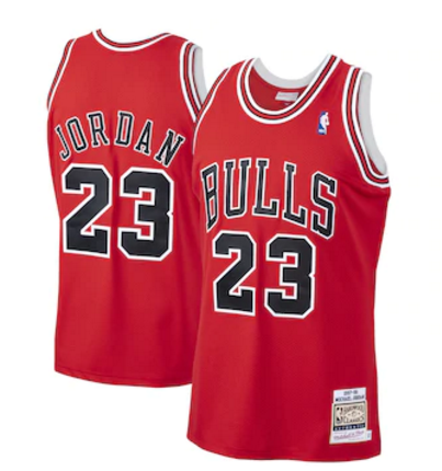 Camiseta Michael Jordan, Chicago Bulls Mitchell & Ness - Rojo