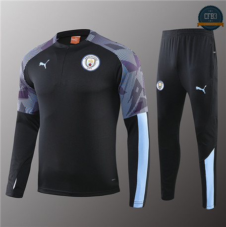 Cfb3 Chandal Niños Manchester City Negro/Violet 2019/2020