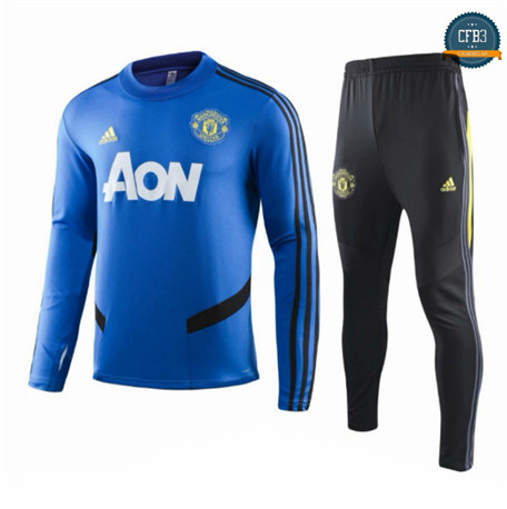 Cfb3 Chandal Niños Manchester United Azul/Negro 2019/2020