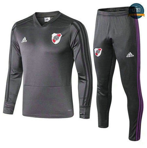 Chándal River Plate Gris Oscuro 2018/2019 Cuello V