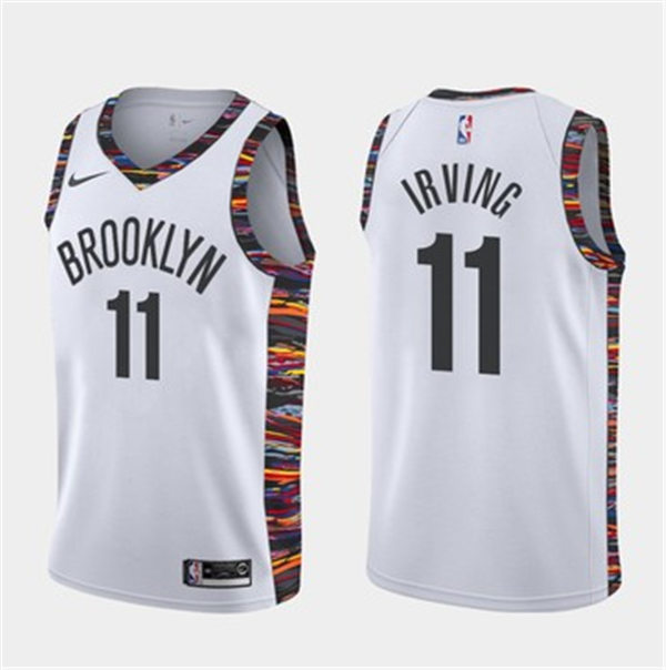 Cfb3 Camisetas Kyrie Irving, Brooklyn Nets 2019/20 - City Edition -Blanco